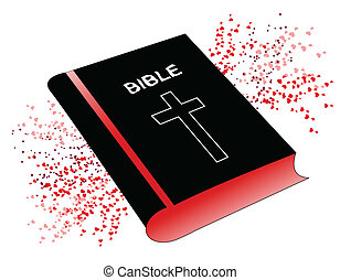 Holy Bible - Vector illustration of the Holly Bible with...