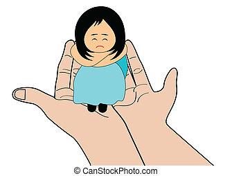 Sad girl - A little girl feeling upset - sadness and...