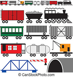 Train Engine and Cars - Trains cars and engine to make your...