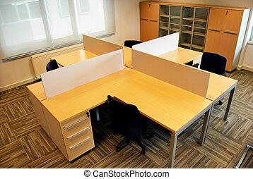 Empty offices and empty tables
