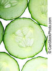 cucumber slice macro close up