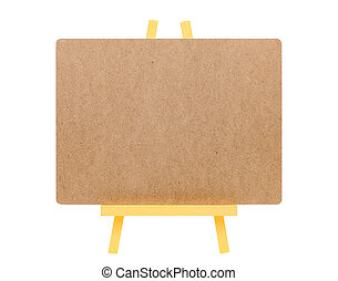 blank board and easel - blank board and woodsen easel...