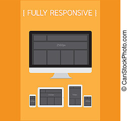 Fully Responsive Design. EPS10