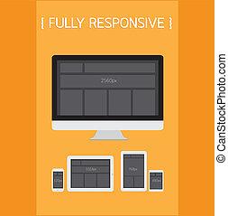Fully Responsive Design EPS10