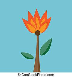 Fire flower Vector