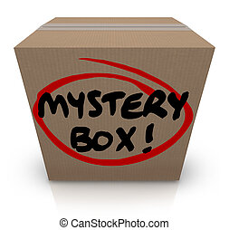 Mystery Cardboard Box Shipment Package Classified Contents -...
