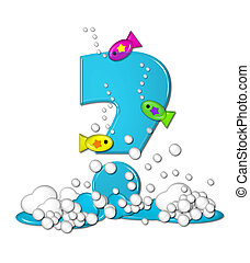 Alphabet Bubbly Fish Question - Question mark, in the...