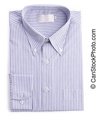 dress shirt on white background - Shirt men dress shirt on a...