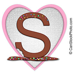 Alphabet Chocolate Bar S - The letter S, in the alphabet set...
