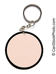 Key ring label - Key ring on white background