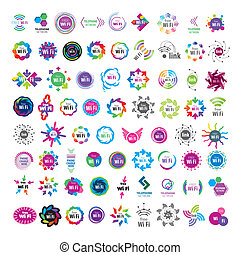 Biggest collection of vector logos Wifi connection