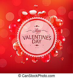 Red Happy Valentines Day Card