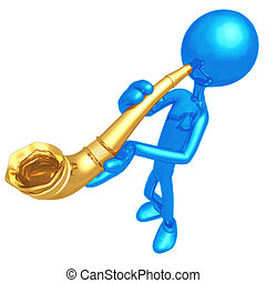 Blowing Horn - 3D Concept And Presentation Figure