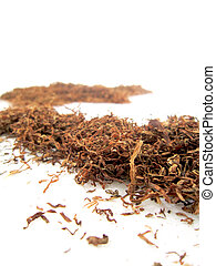 Sliced Dried Tobacco Leaves