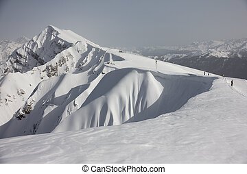The mountains in Krasnaya Polyana, Sochi, Russia - The...