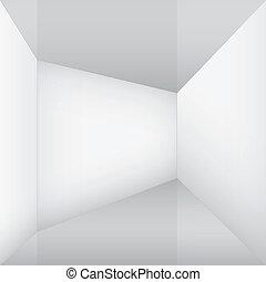 empty white room corner
