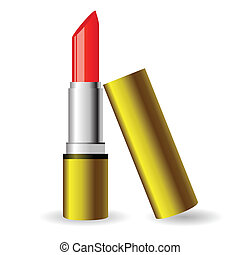 red lipstick - colorful illustration with red lipstick for...