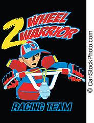 Two wheel warrior
