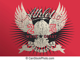 Athletic sports league with eagle