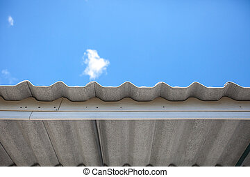 waved asbestos roof
