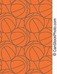 Basketball repeat pattern. Illustrator repeating swatch...