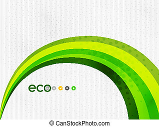Green eco rainbow on textile texture