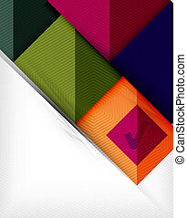 Geometric shape flat abstract background. Blank infographic...