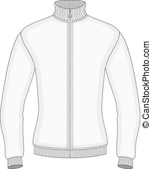 Mens sweater with zip design template front view Vector...