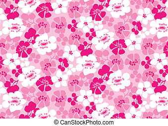 Bright pink flowers pattern