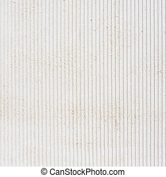 White plastic striped wall