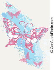 Butterfly brush stroke