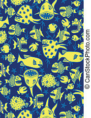 Crazy fish repeat pattern.
