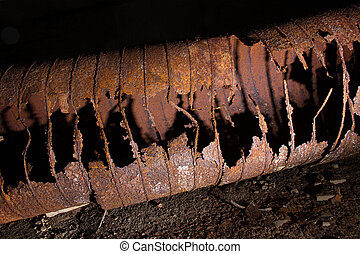 Rust damaged ventilation duct