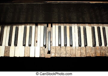 old piano detail