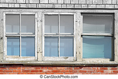 Windows - Old weathered windows on exterior of building