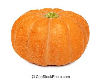 Ripe whole pumpkin (isolated)
