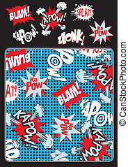 Kapow splat blam Illustrator swatch of repeat pattern...