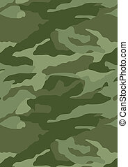 Khaki camouflage repeat pattern. Illustrator swatch of...