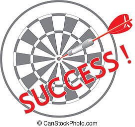 Success dart - Illustration about success in life, dart in...