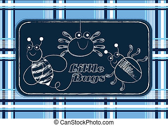Little bugs. Illustrator swatch of repeat pattern included.