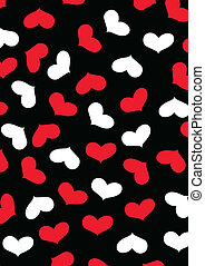 Love heart repeat pattern