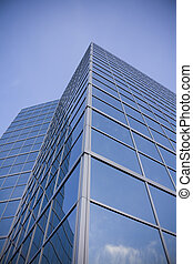 Sky reflected in modern building