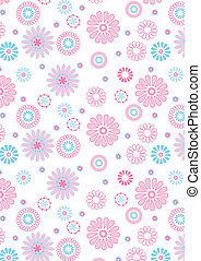 Pink flowers pattern - Pink flowers pattern on white...