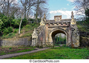 Archway Walk - Peaceful walk leading to archway under old...