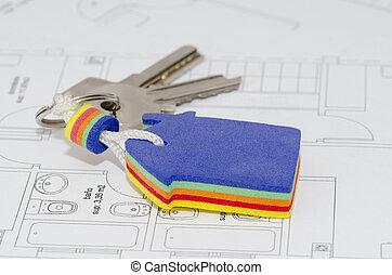 keys on blueprint