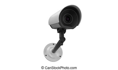 security camera - 3d security camera White background
