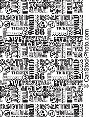 Road trip music tour pattern. Illustrator swatch of repeat...
