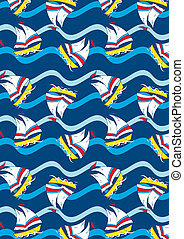 Sailing Illustrator swatch included in file