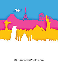 Travel Background - illustration of of travel background...
