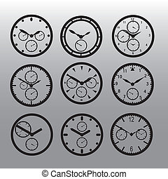 chronograph watch dials eps10